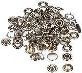 Prym 390 104 Bottoni Automatici Senza Cuciture 10 mm, Confezione di Ricambio, Colore: Argento