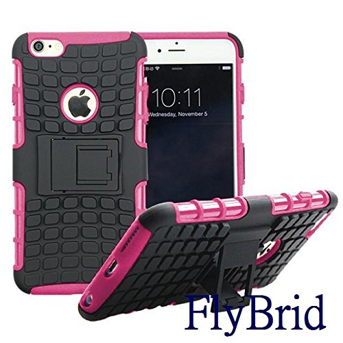 Iphone 6 Plus Case, Iphone 6s Plus Case,flybrid[shockproof][anti-stain] [Drop Resistant][lightweight]hybrid Heavy Duty Hard Cover Shockproof Case Cover for Iphone 6 Plus, Iphone 6s Plus (Pink)
