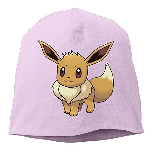YUVIA Eevee Poke Men's&Women's Patch Beanie LeisurePink Cap Hat For Autumn And Winter (Halloween Costumes Houston Stores)