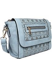 "Melie Bianco ""Lilian"" Crossbody Handbag in Sky Blue"