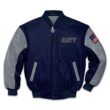 Navy Pride U.S. Navy Varsity-Style Men's Jacket : Feature
