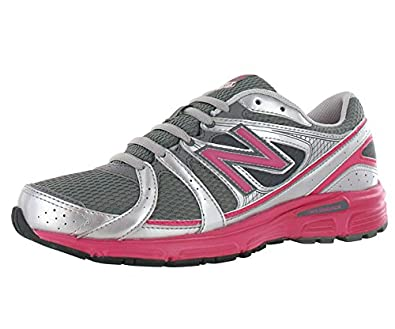 New Balance Women's 480 Running Shoe Pink/Gray/Silver (6)