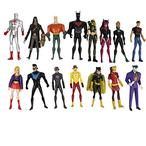 Neueste Set von 15 Batman Catwoman spielen Arts Action-Figuren Superwoman Models Dekoration 11cm
