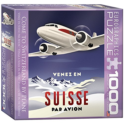 Come to Switzerland by Plane Puzzle, 1000-Piece