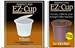 Ez-cup & Ez Cup Filters (50 Filters) Combo Pack for Keurig Brewers By Perfect Pod