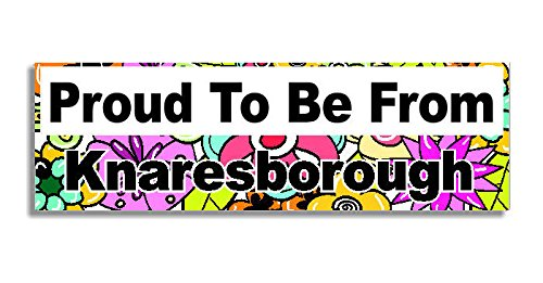 Proud-To-Be-From-Knaresborough-Car-Sticker-Sign-Auto-Aufkleber-Decal-Bumper-Sign-5-Colours-Flowers