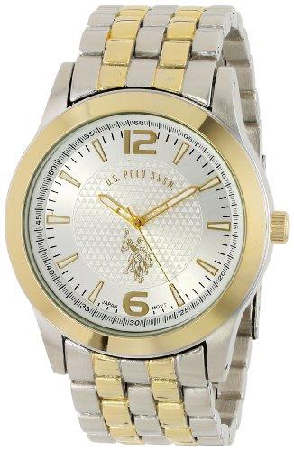 U.S. Polo Assn. Classic Men'S Usc80021 Two-Tone Silver Dial Bracelet Watch