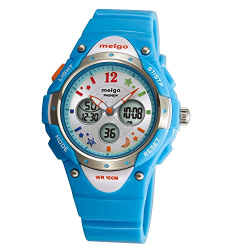 Wise® Boys Watch, Sports Watches, Girls Watches, Waterproof 100m Watches, Kids Watches 2001ad Cyan image