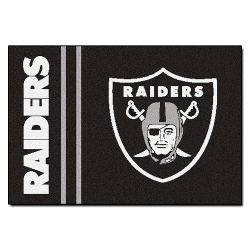 Fanmats Nfl Oakland Raiders Nylon Face Starter Rug back-152488