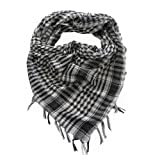 Trendy Plaid &amp; Houndstooth Check Soft Square Scarf - Different Colors Available By TrendsBlue
