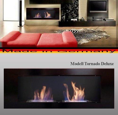 Bio Etanol Chimenea Modell Tornado Deluxe (negro)