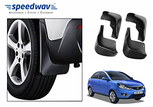 Speedwav Car Plastic Mud Flaps Set 4 Pcs -Tata Zest