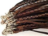 レザーウォレットロープ43cm  ブラウン