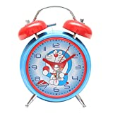 Bazaar Pirates Doraemon Alarm Clock, Old Age, Old Fashioned, Kids Room Table Clock (Steel) (Blue-Red)