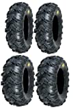 Full set of Sedona Mud Rebel 25x8-12 and 25x10-12 ATV Tires (4)