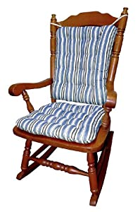 Rocking Chair Cushion Set Colton Federal Stripe Blue Whi
