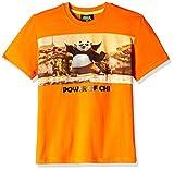 Kung Fu Panda Boys' T-Shirt (KFPTEE011_Orange_7 - 8 Years)