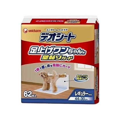 デオシート 足上げワンちゃん用 壁貼りガード レギュラー 62枚×4個入 (ケース販売)