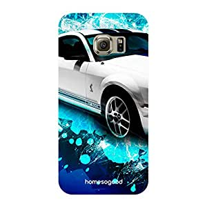 HomeSoGood We Need Speed Automobiles White 3D Mobile Case For Samsung S6 Edge ( Back Cover)