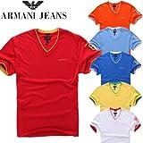 ARMANI JEANS アルマーニ ジーンズ Tシャツ 半袖 Vネック レギュラー フィット シャツ メンズ 6カラー 並行輸入品 VITA353