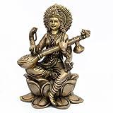 """Dekoration Wohnung Modern Geschenke F�r Verliebte Saraswati Statue Hindu-G�ttin Messing 15,88 cm x 23,5 cm x 13,97 cmvon """"ShalinIndia"""""""