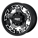 Moto Metal Skull (Series MO909) Gloss Black Machined Face - 17 X 9 Inch Wheel