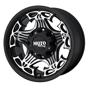 "Moto Metal Skull MO909 Gloss Black Wheel with Machined Face (18x9""/5x5"")"