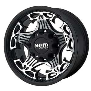 "Moto Metal Skull MO909 Gloss Black Wheel with Machined Face (17x9""/5x4.5"")"