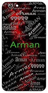 Arman (Wish) Name & Sign Printed All over customize & Personalized!! Protective back cover for your Smart Phone : Moto G-4-Plus