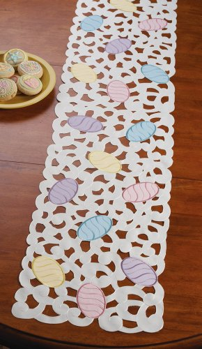 Easter Eggs Decorative Table Runner