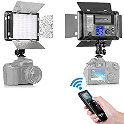 Bestlight LED310 Barndoor Dimmable Video Light with 16CH Wireless Remote Control for Canon, Nikon, Pentax, Panasonic, Sony, Samsung, Olympus and Other Digital DSLR Cameras