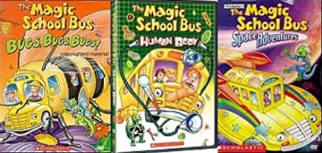 Magic School Bus 3 DVDs Bugs Bugs Bugs - Human Body - Space Adventures