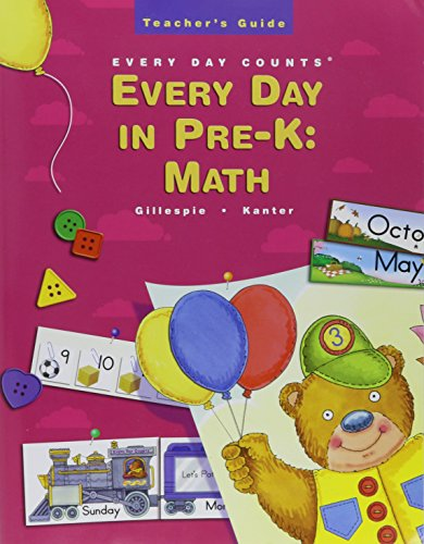 Great Source Every Day Counts: in Pre-K: Teacher's Guide Grade Pre-K 2002