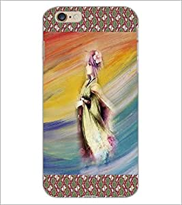 PrintDhaba Animated Girl Sketch D-3580 Back Case Cover for APPLE IPHONE 6 PLUS (Multi-Coloured)