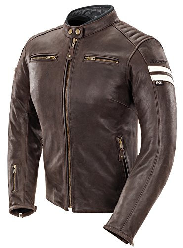 Joe Rocket Classic '92 Women's Leather Motorcycle Jacket (Brown/Cream, Medium) (Joe Rocket Classic 92 compare prices)
