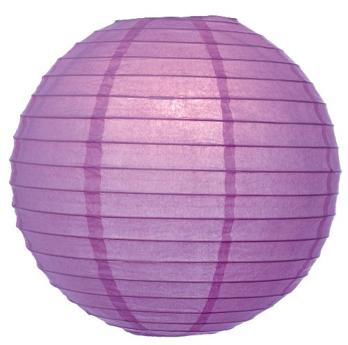 "WeGlow International 8"" Deluxe Paper Lantern - Light Purple (3 Pieces)"