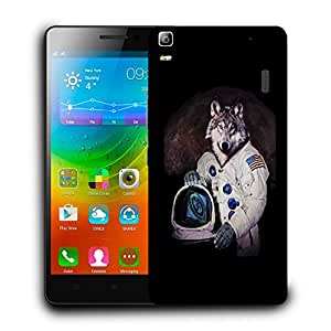 Snoogg Astro Wolf Designer Protective Back Case Cover For LENOVO A7000 / K3 NOTE