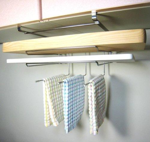 吊り下げラック まな板ホルダー フキン掛け 18-8ステンレス製 穴あけ不要 ネジ止め不要 日本製