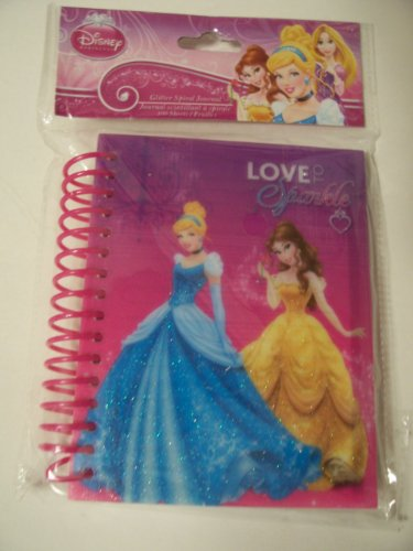 Disney Glitter Spiral Journal ~ Disney Princess Sparkle (Love to Sparkle) - 1