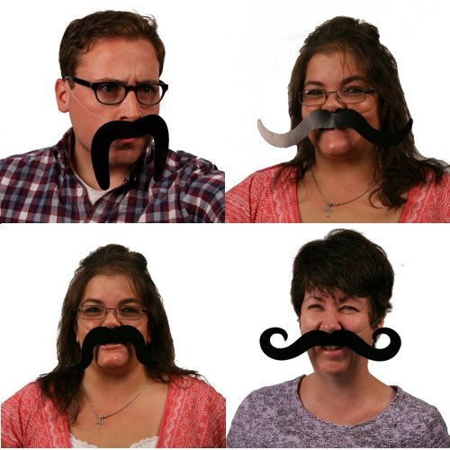 Moustaches - 4 pieces