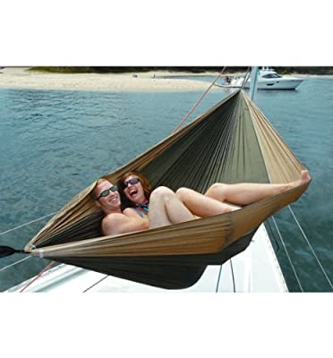 "Hammock Bliss Double - XL Portable Hammock - Quality Material & 100"" Rope Included Each Side - Great For Couples, Perfect for Camping, Travel & Adventure"