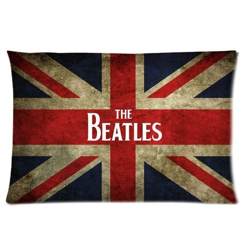 Butuku British Flag The Beatles Famous England Liverpool Rock Band Hall Of Fame Personalized Rectangle Pillow Case 24X16 (One Side) front-707550