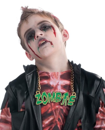 Rubies Kids Boys Girls Funny Zombie Costume Jewelry Necklace