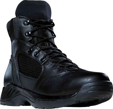 """Danner Men's Kinetic 6"""" Boots,Black Full Grain Leather/Nylon,4 D US"""