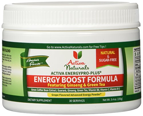 Activa Naturals Energy Boost Formula - Sugar Free Grape Flavored Drink Mix Powder (Spark Drink Grape compare prices)