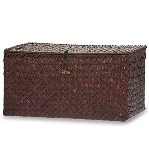 The Lucky Clover Trading Keepsake Storage Box with Lid, Mahogany, Large (Wood Storage Box With Lid compare prices)