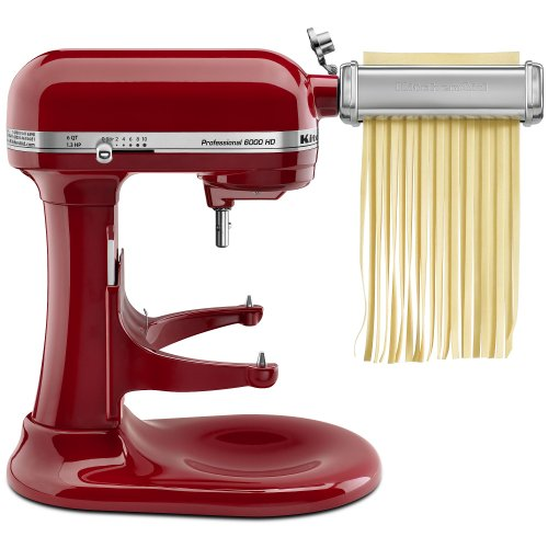 Kitchenaid Kpra 3 Piece Pasta Making Set: Pasta Roller, Fettuccine Cutter, And Linguine Fine Cutter front-2798