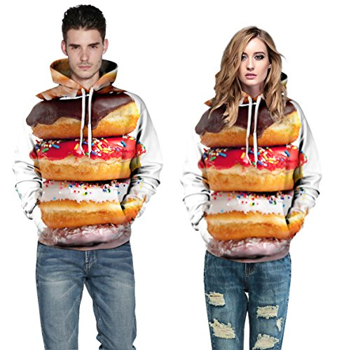 3D Donuts Design Unisex Hoodie Sweatshirts (L/XL) (Drake And Lil Wayne Shirt compare prices)