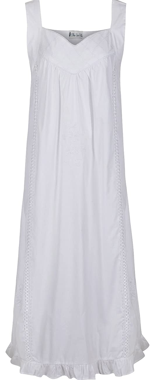 The 1 for U Nancy 100% Cotton Victorian Sleeveless Nightgown 7 Sizes 0
