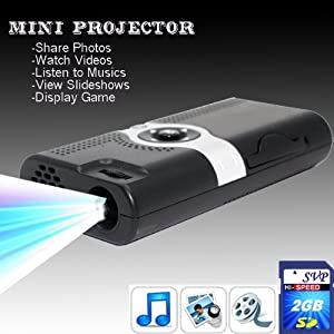 NEW! PP003 (with 2GB card)Portable POCKET PROJECTOR